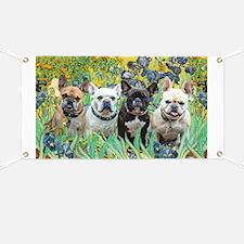 Irises-4 French Bulldogs Banner