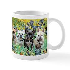 Irises-4 French Bulldogs Mug