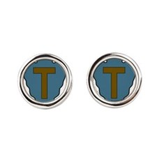 36th Infantry Division.png Round Cufflinks