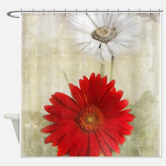 Cool Floral Shower Curtain