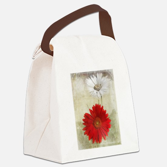 Unique Floral Canvas Lunch Bag