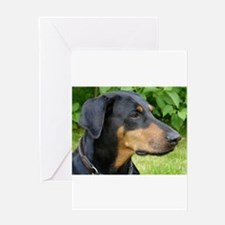dobie 2 Greeting Cards
