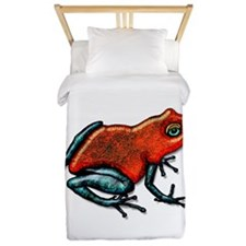 Cute Poison dart frogs Twin Duvet
