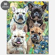 Unique French bulldog dogs bat ears Puzzle