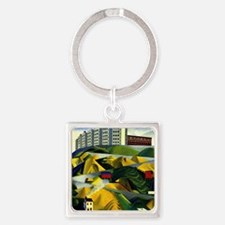Fort George Hill Square Keychain