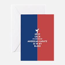 Keep Calm I'm American American Karate Is In My Bl