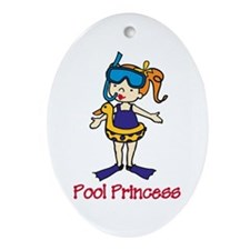 Pool Princess Ornament (Oval)