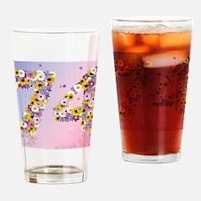 Modern daisies Drinking Glass