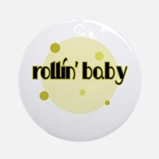 Rollin' Baby [yellow] Ornament (Round)