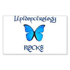 Lepidopterology Rocks 2 Rectangle Decal