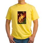 Angel & Golden Retrieve Yellow T-Shirt