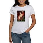 Angel & Golden Retrieve Women's T-Shirt