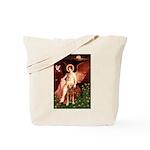 Angel & Golden Retrieve Tote Bag