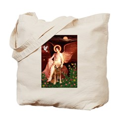 Angel & Golden Retrieve Tote Bag