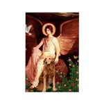 Angel & Golden Retrieve Rectangle Magnet (10 pack)
