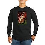 Angel & Golden Retrieve Long Sleeve Dark T-Shirt