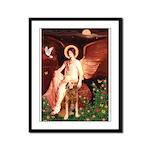 Angel & Golden Retrieve Framed Panel Print