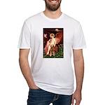 Angel & Golden Retrieve Fitted T-Shirt