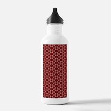 Burgundy White Honeyco Water Bottle