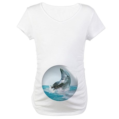 Bubble Dolphin Maternity T-Shirt