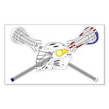 Lacrosse Sticks Modern Decal