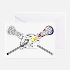 Lacrosse Sticks Modern Greeting Card