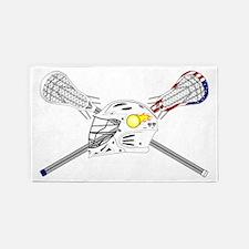 Lacrosse Sticks Modern 3'x5' Area Rug