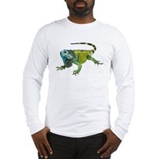 Gorgeous Green Iguana Long Sleeve T-Shirt
