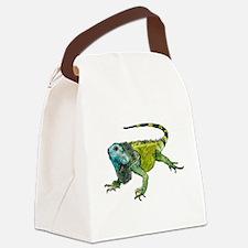 Funny Chameleon Canvas Lunch Bag