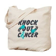 Knock Ovarian Cancer Tote Bag