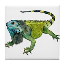 Cute Chameleon Tile Coaster