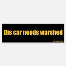 Dis car needs warshed