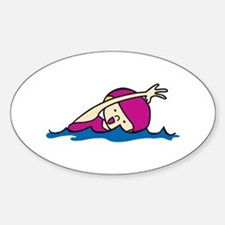 Swimmer Girl Decal