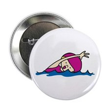 """Swimmer Girl 2.25"""" Button"""