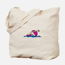 Swimmer Girl Tote Bag