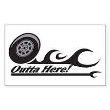 Outta Here! Teacher Gifts Rectangle Decal