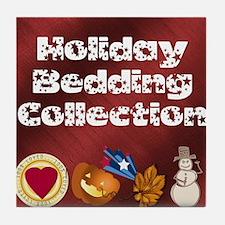 Holiday Bedding Tile Coaster