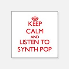 Keep calm and listen to SYNTH POP Sticker