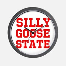 SILLY GOOSE STATE Wall Clock