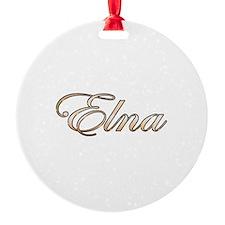 Gold Elna Ornament