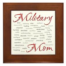Military Mom poem of words Framed Tile