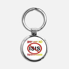 No ISIS Symbol Round Keychain