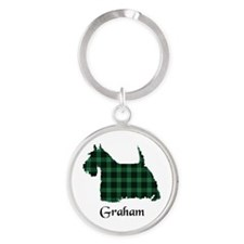 Terrier - Graham Round Keychain