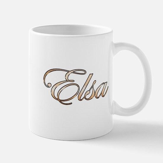 Gold Elsa Mugs