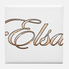 Cute Elsa Tile Coaster