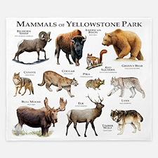 Mammals of Yellowstone National Park King Duvet