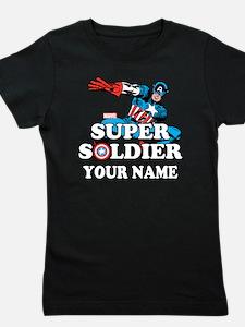 Captain America Super Soldier Personali Girl's Tee