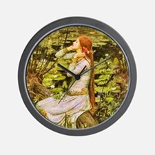 Waterhouse: Ophelia (1894) Wall Clock