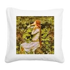 Waterhouse: Ophelia (1894) Square Canvas Pillow