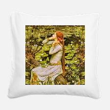 Waterhouse: Ophelia (1894) Square Canvas Pillow